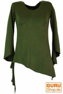 Psytrance Elfen Shirt Goa chic - grün