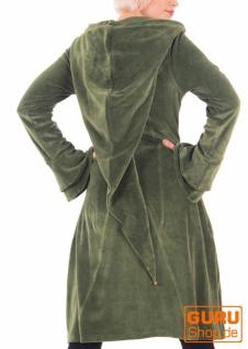 Kurzmantel mit Kapuze aus Bio-Baumwolle / Chapati Design - green
