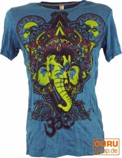 Baba T-Shirt Ganesha mit drittem Auge - petrol
