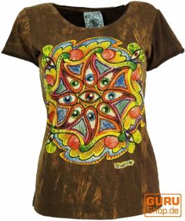 Mirror T-Shirt - Drittes Auge / braun