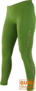 Psytrance Damen Leggings, Stretch Hose für Frauen, Yogahose - lemon