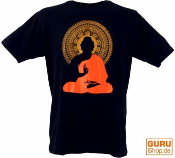 Tibet & Buddhist Art T-Shirt - Buddha/Mandala schwarz