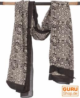 Leichter Pareo, Sarong, handbedrucktes Baumwolltuch - Farb Kombination 11