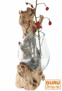 Wandvase, Wurzelholz Vase, exotische Vase für die Wand - Glas 20*20 cm M9