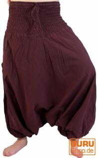 Haremshose Pluderhose Pumphose Aladinhose aus Baumwolle in 5 Farben
