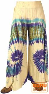 Farbenfroher Batik Hosenrock - naturweiß