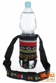 Wasserflaschen Tasche, Flaschenhalter Ethno - Model 6