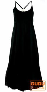 Sommerkleid, Maxikleid, Strandkleid, Hippiekleid - schwarz