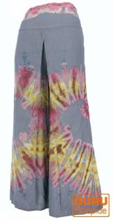Batik Palazzohose, offene Sommerhose - grau