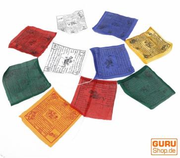 Tibetische Gebetsfahne in verschiedenen Längen - 10 Wimpel/Baumwolle