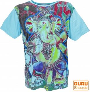 Mirror T-Shirt - Ganesh / hellblau