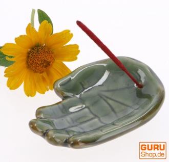 Keramik Räucherteller `Hand` - Modell 24