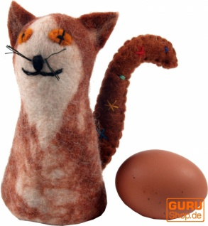 Filz Eierwärmer - Katze