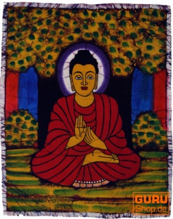 Handgemaltes Batikbild, Wandbehang, Wandbild - Buddha 52*42 cm