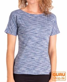 T-Shirt aus Bio-Baumwolle / Chapati Design - navy