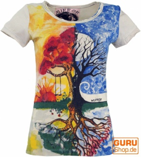 Mirror T-Shirt - Tree of life / beige
