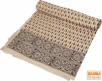 Blockdruck Tagesdecke, Bett & Sofaüberwurf, handgearbeiteter Wandbehang, Wandtuch - Design 6