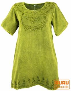 Besticktes indisches Hippie Top, Boho-chic Bluse - lemon
