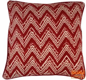 Kissenbezug Blockdruck, Kissenhülle Ethno, Dekokissen Bezug mit traditionellem Design - Muster 13
