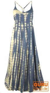 Batik Sommerkleid, Maxikleid, Strandkleid, Hippiekleid - blaugrau