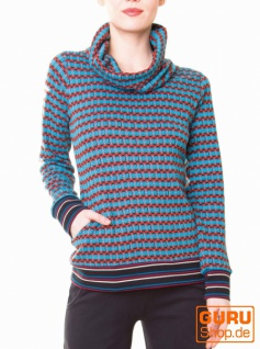 Pullover aus Bio-Baumwolle / Chapati Design - turq sporty