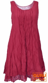 Boho Krinkelkleid, Lagenkleid, Minikleid, Sommerkleid, Strandkleid - bordeauxrot