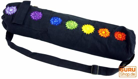 Yogamatten-Tasche 7 Chakra - schwarz