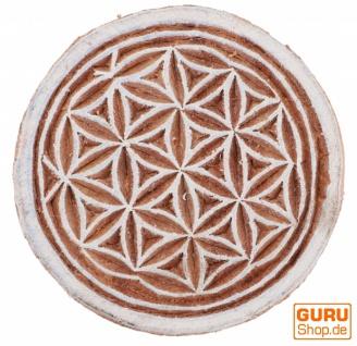 Indischer Textilstempel, Stoffdruckstempel, Blaudruck Stempel, Holz Model - Ø 5 cm Blume des Lebens 3 - Vorschau 2