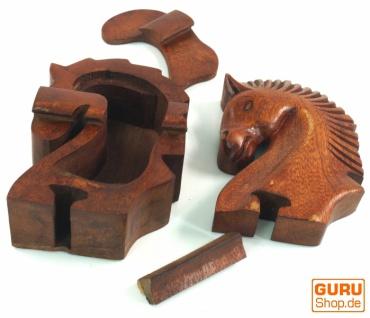Puzzlebox, Schmuckschatulle, Magic Box, Schachtel mit Geheim Verschluß - Pferd - Vorschau 2