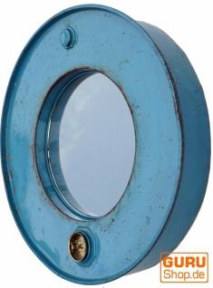 Metall Spiegel aus recyceltem Faß Deckel aus Metall, Vintage Deko Spiegel - Farbe 10