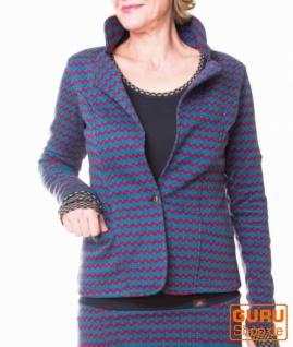 Jacke aus Bio-Baumwolle / Chapati Design - blue jeans sporty