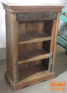 Kleines Rustikales Bücherregal, Massivholz, Kolonialstil - Modell 4