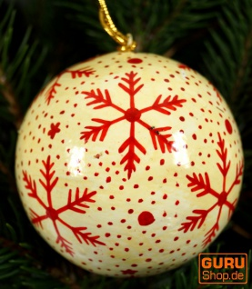 Upcyceling Weihnachtskugel aus Pappmachee, Handbemalter Christbaumschmuck, Kaschmirkugeln - Muster 27