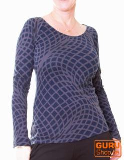 Pullover aus Bio-Baumwolle / Chapati Design - navy/grey