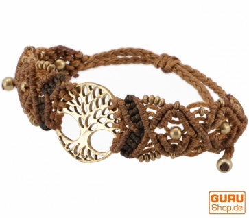 Goa Armband, Makramee, Festival Armband - Tree of life/caramel Modell 16