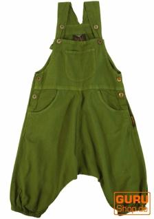 Kinder Latzhose, Pluderhose, Pumphose, Aladinhose für Kinder - olivgrün