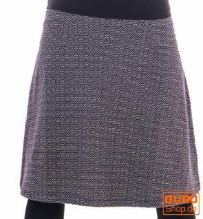 Knielanger Rock aus Bio-Baumwolle / Chapati Design - black brick