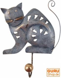 Kleiner Garderobenhaken, Metall Kleiderhaken - Katze 2