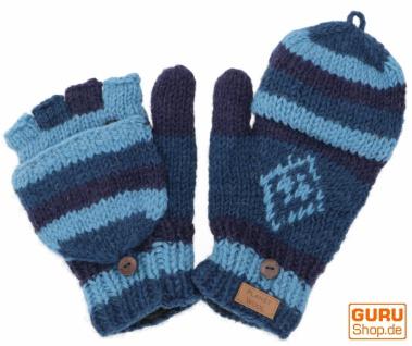 Handschuhe, Klapphandschuhe Nepal - blau