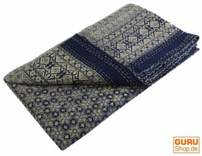 Quilt, Steppdecke, Tagesdecke Bettüberwurf, Besticktes Tuch, Indischer Bettüberwurf, Tagesdecke - Muster 19