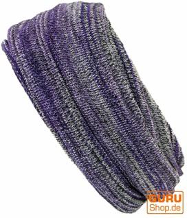 Magic Hairband, Dread Wrap, Schlauchschal, Stirnband, Mütze - Loopschal lila