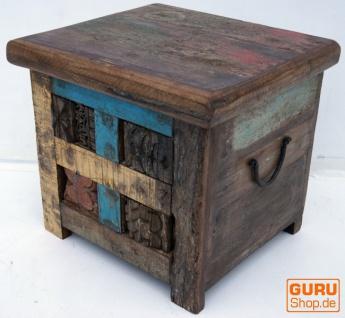 Holztruhe, Holzbox, Kiste, handgefertigt, mit eingesetzten Ornamenten - Modell 14
