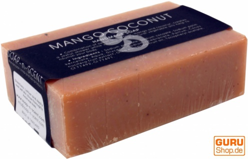 Handgemachte Duftseife, 100 g Fair Trade - Mango / Kokosnuss