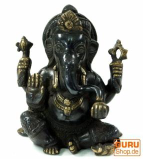 Messingfigur Ganesha Statue 15 cm - Motiv 25