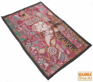 Indischer Wandteppich Patchwork Wandbehang/Tischläufer Einzelstück 90*65 cm - Muster 5