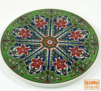Orientalischer Keramikuntersetzer, runder Untersetzer mit Mandala Motiv - Muster 4