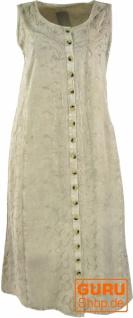 Besticktes Boho Sommerkleid, indisches Hippie Kleid, beige - Design 17