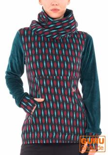 Pullover mit Kapuze aus Bio-Baumwolle / Chapati Design - burg geo