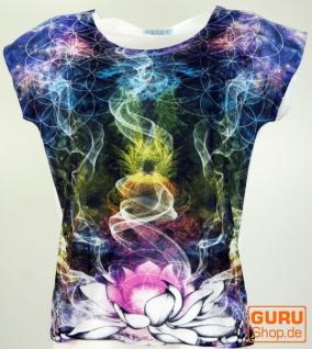 Psytrance T-Shirt, Yoga T-Shirt, Retro T-Shirt - Lotus