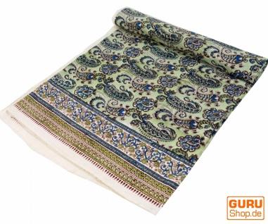 Blockdruck Tagesdecke, Bett & Sofaüberwurf, handgearbeiteter Wandbehang, Wandtuch - Design 18